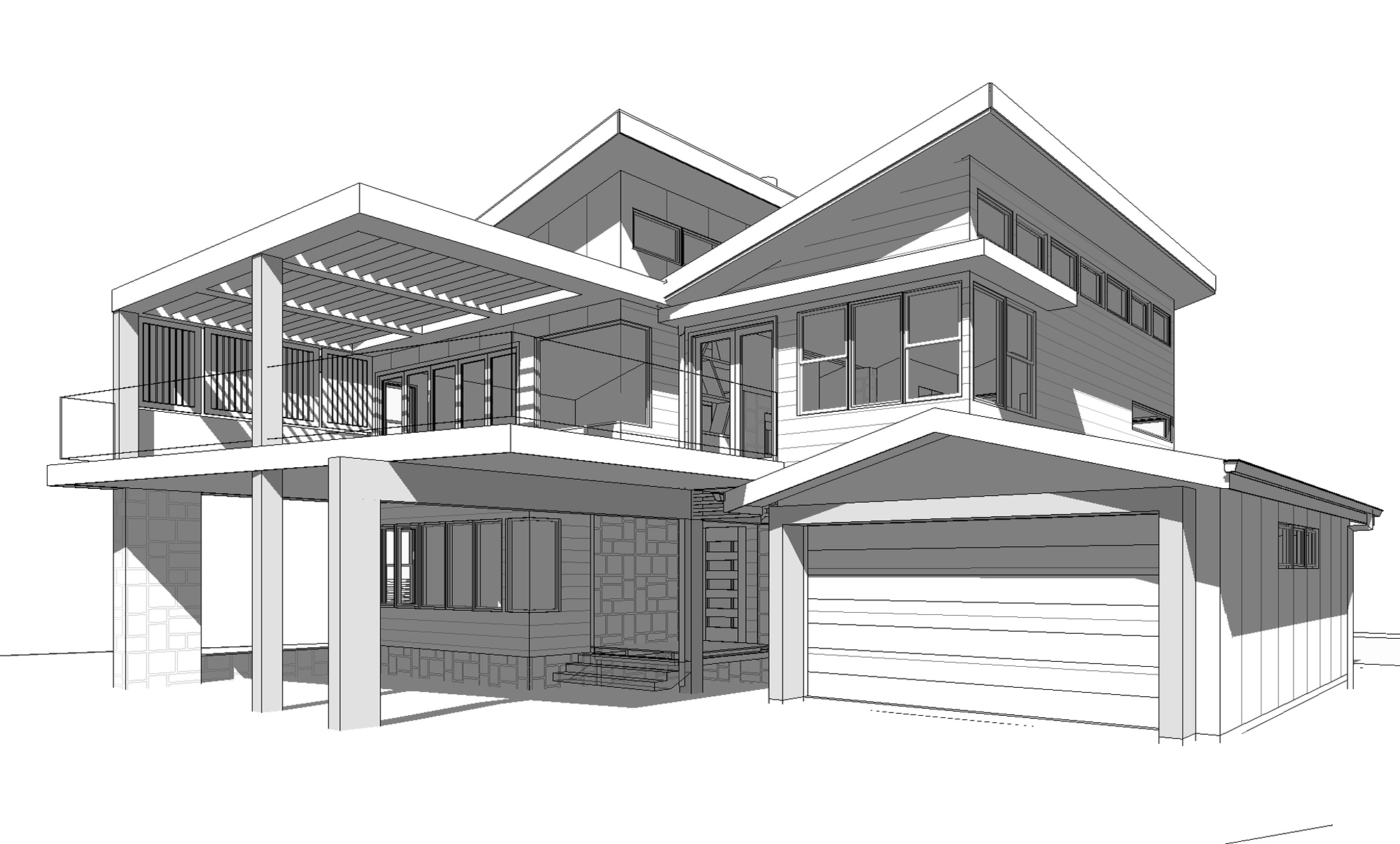 Architecture Design Drawing Building Architectural Drawing Stock Images Royalty Free Images